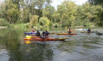 Kayak on the Ebro river